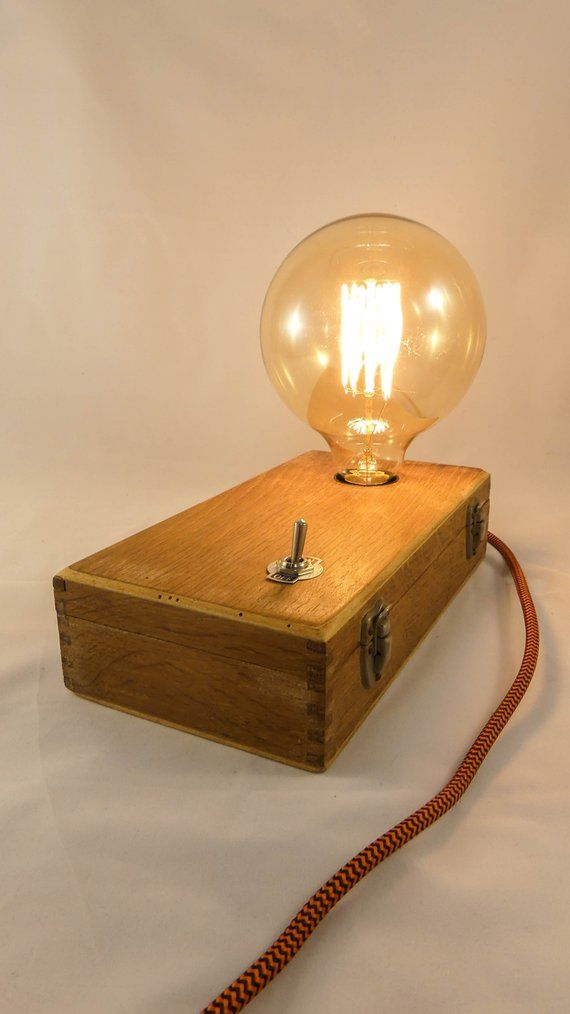 Lampe En Bois Vintage In 2020 Lamp Light Wooden Lamps Design Novelty Lamp