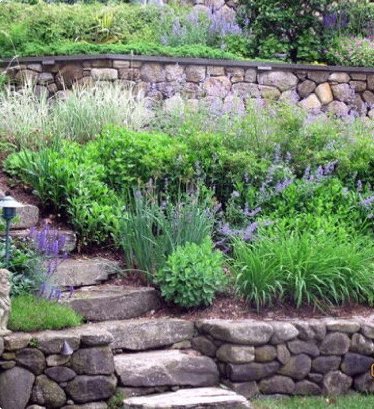 69 best images about slopes and hillsides on pinterest for Hillside rock garden designs