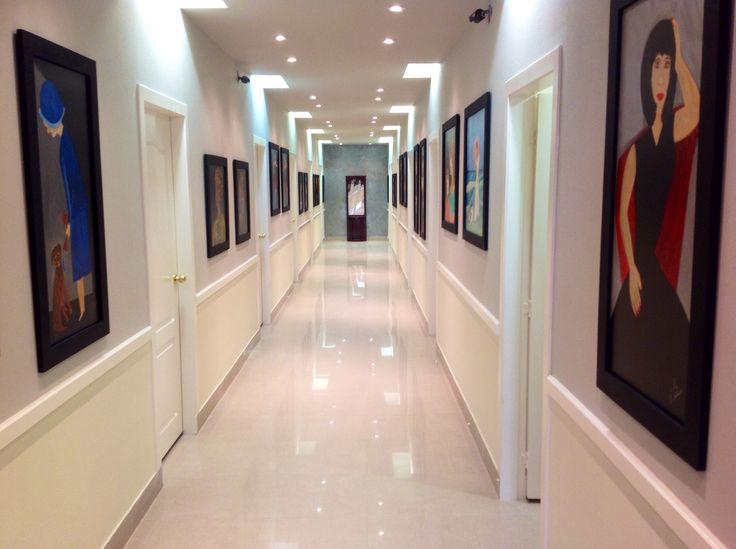 Hall way art galery