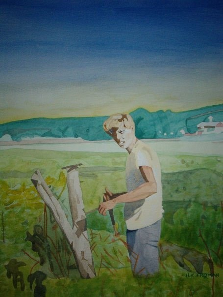 """On the Farm"" © 2003 by, artist Heather Froman;  www.heatherfroman.com;  www.facebook.com/HeatherFromanArt"