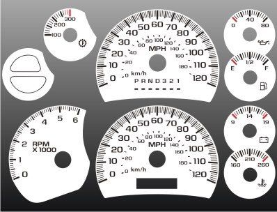 2003-2007 Chevrolet Silverado Truck GAS White Face Gauges. For product info go to:  https://www.caraccessoriesonlinemarket.com/2003-2007-chevrolet-silverado-truck-gas-white-face-gauges/