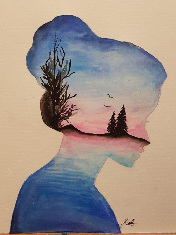Прикольные рисунки красками для начинающих простые