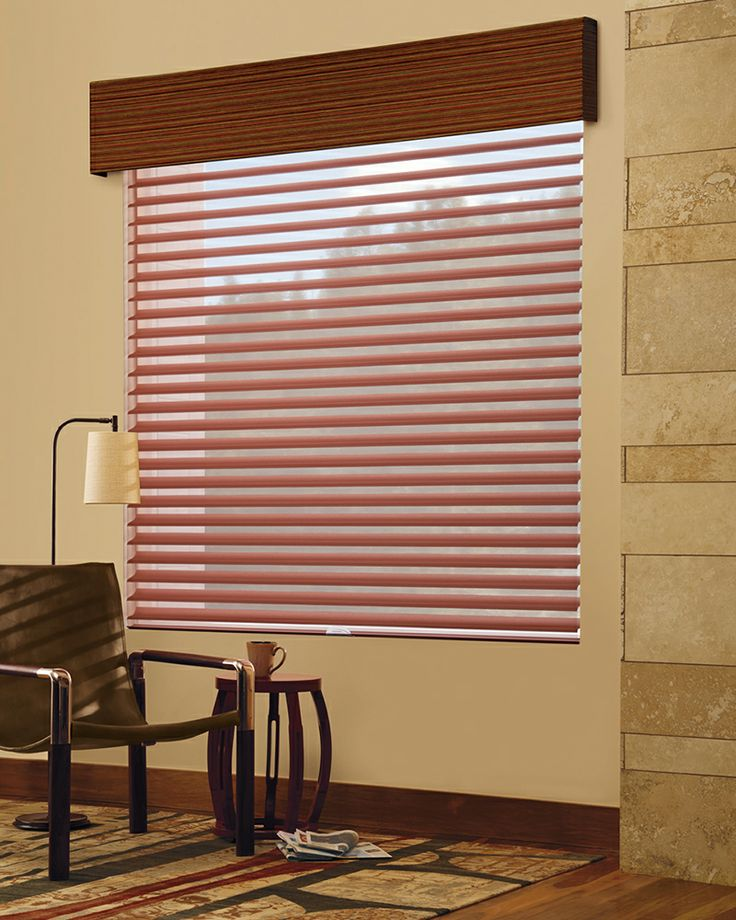 Transform a room with a bold dramatic color.  Simply done with Design Studio™ Soft Roman Shade Valances and Matisse Silhouette® Window Shadings ♦ Hunter Douglas Window Treatments  #LivingRoom