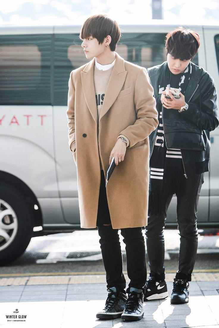 BTS V airport fashion at Incheon Airport [150307]