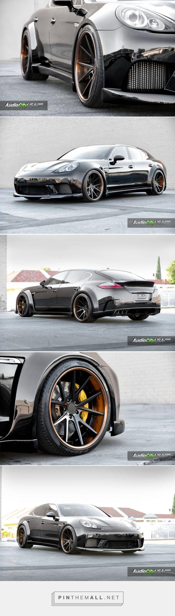 "700 HP Wide Body Porsche Panamera   2015 Sema Build   22"" Rennen Forged R55   AudioCityUsa   Pirelli Tires"