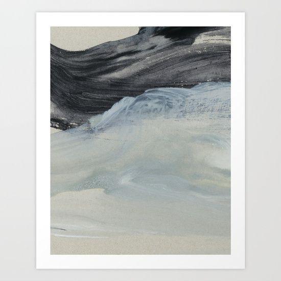 minimal brushstrokes 1 Art Print