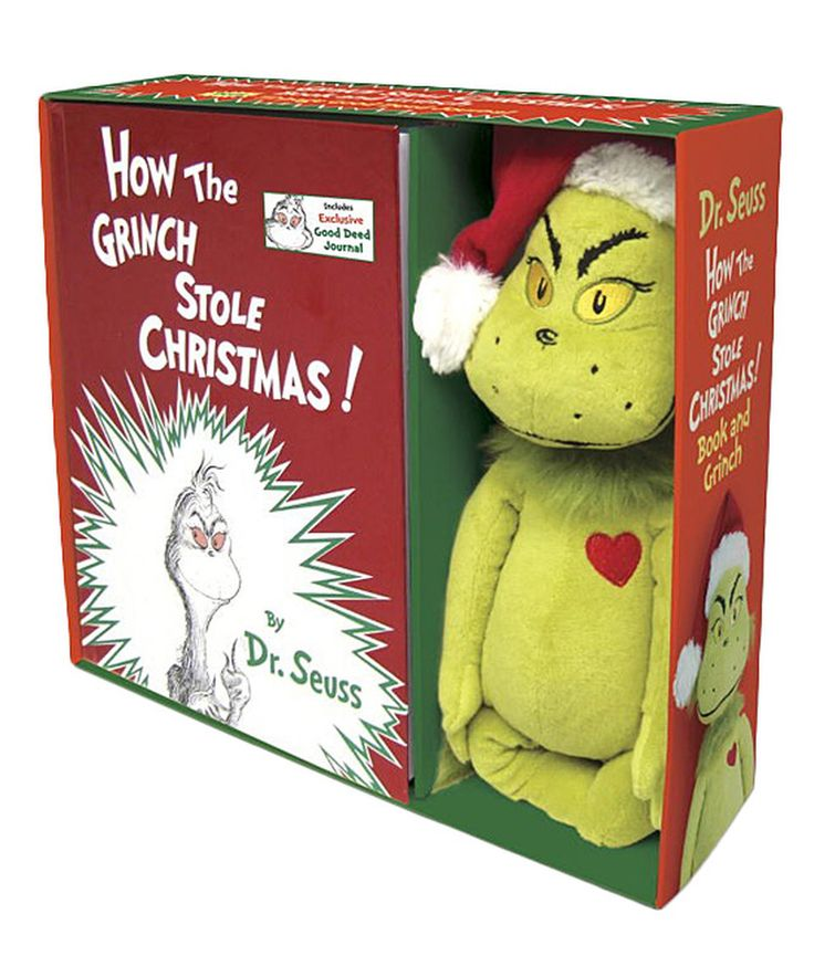 Another great find on #zulily! How the Grinch Stole Christmas Hardcover & Plush Set by Dr. Seuss #zulilyfinds