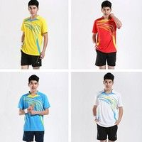 NEW #Men's badminton clothing #suits running #sportswear and leisure clothing 4 Colors 6 Size K_SMA004