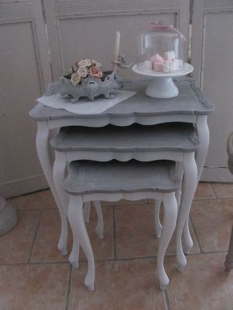 chevet table gigogne boutique 386 gris and grey pinterest shabby upcycled furniture and. Black Bedroom Furniture Sets. Home Design Ideas