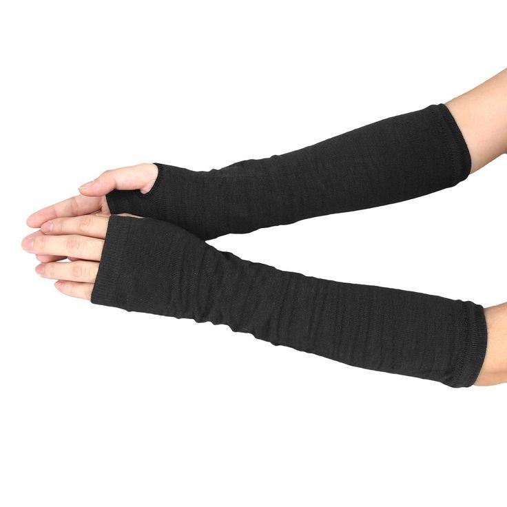 Fingerless Gloves Women Winter Wrist Arm Hand Warmer Knitted Long Finger less Glove Gym Fitness Workout Mitten luvas feminina