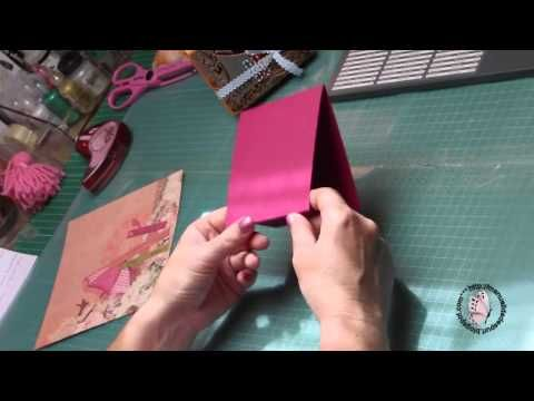 Porta notas con envelope punch board - YouTube