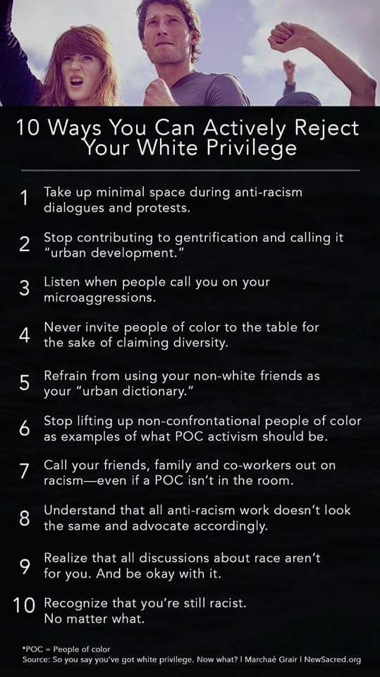 So you say you've got white privilege. Now what?