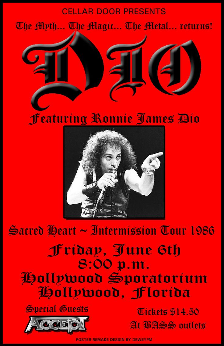 Dio Concert Poster