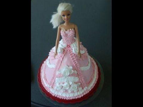 торт кукла барби пошагово фото