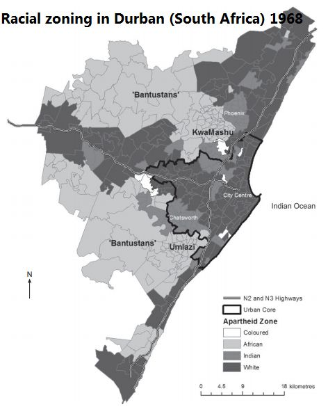 - Racial zoning in 1960s Durban South Africa.Like most...