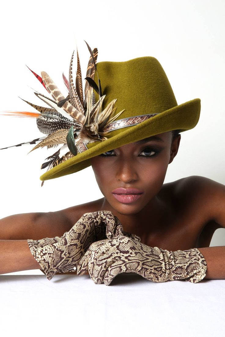 Hat and feathers