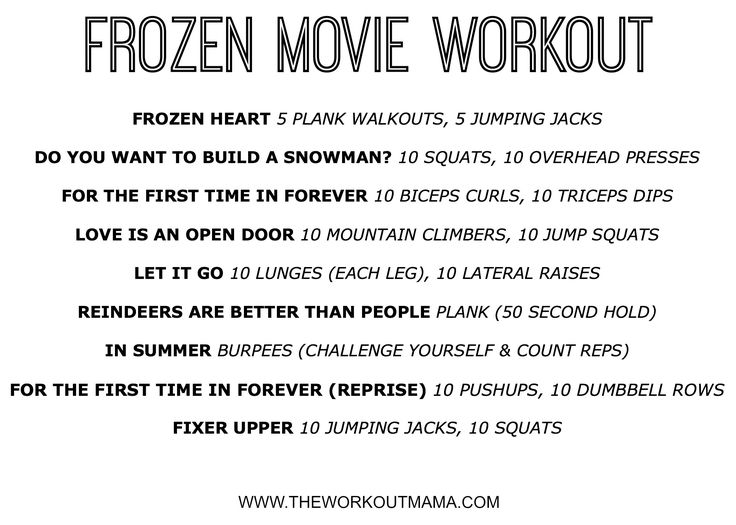 Frozen Movie Songs Workout