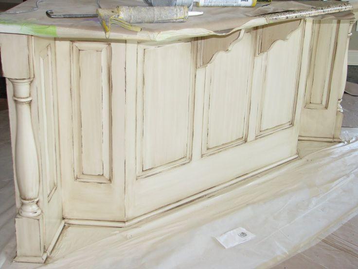 Cream Distressed Kitchen Cabinets Soft Cream Color In