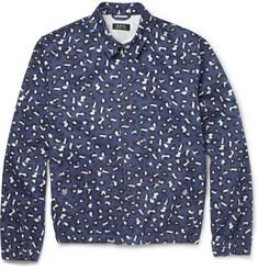 A.P.C.Leopard-Print Cotton Bomber Jacket