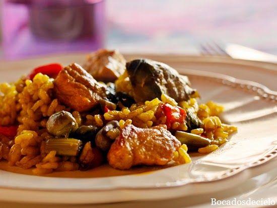 Bocadosdecielo: Paella de magro y verduras