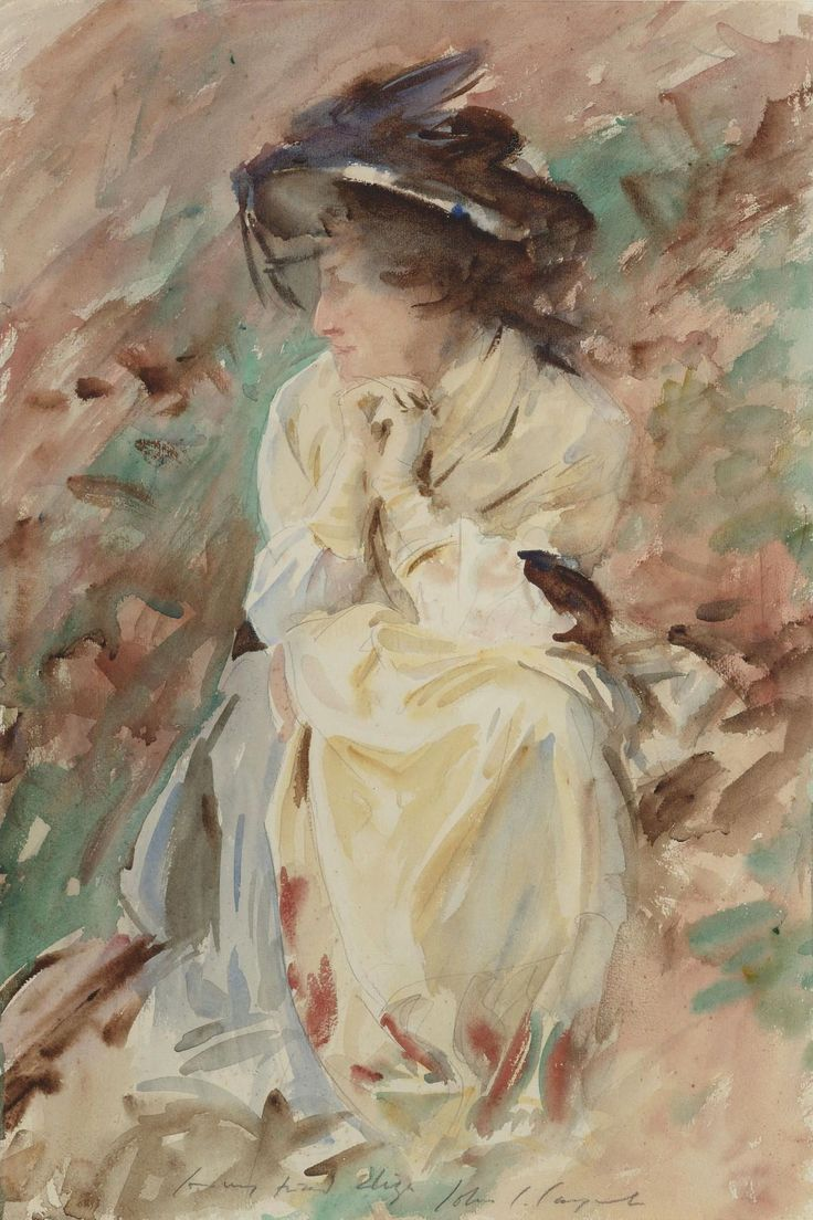 History of watercolor art - It S About Time John Singer Sargent American Expatriate Artist Miss Eliza Wedgewood