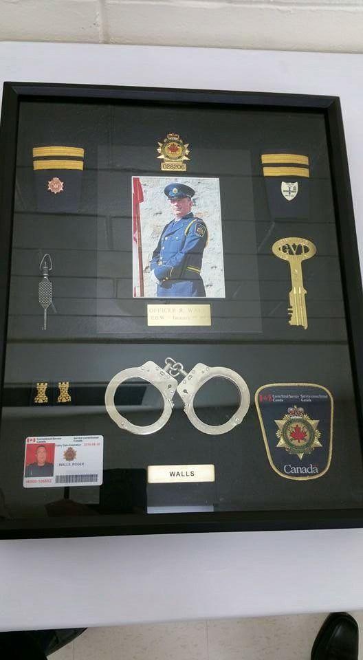 Correction officer shadow box, Canada