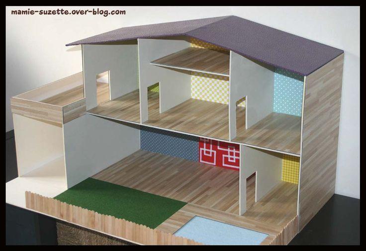 Plan maison playmobil fait main | Maison playmobil, Maison en carton, Maison barbie