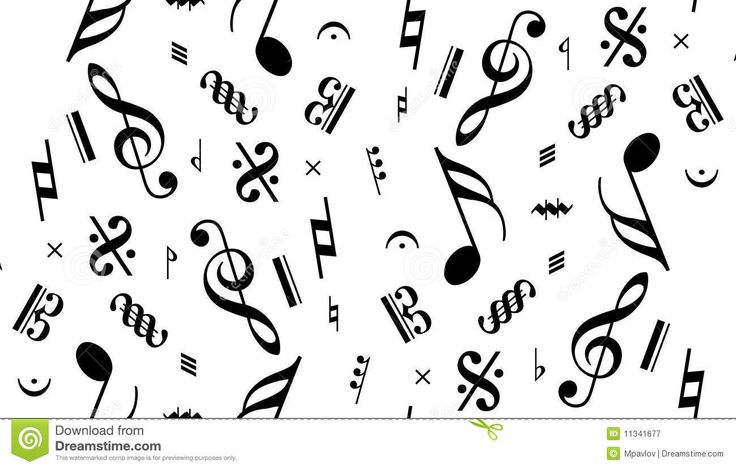 Vector Music Note Seamless Royalty Free Stock Photography   Image