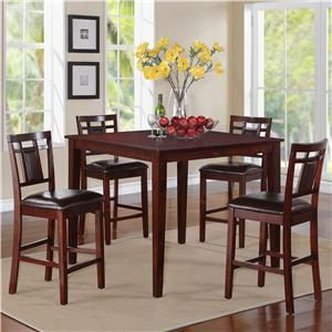Standard Furniture Westlake Counter Height Table With 4 Stools