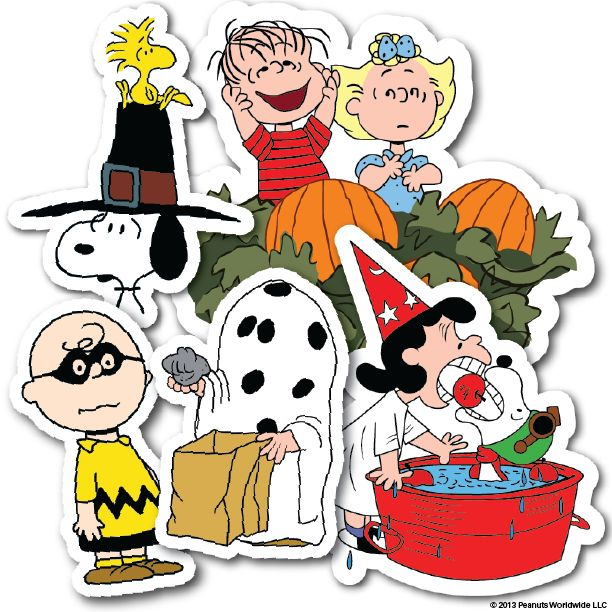 peanuts halloween stickers - Charlie Brown Halloween Cartoon
