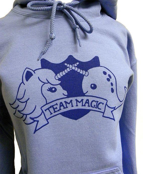 Narwhal Unicorn Hoodie - TEAM MAGIC Hooded Sweatshirt - Unisex Sizes S, M, L, XL via Etsy this is magical!