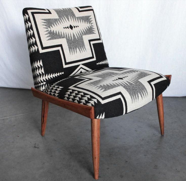 MID CENTURY Navajo PENDLETON Portland LOUNGE CHAIR Walnut