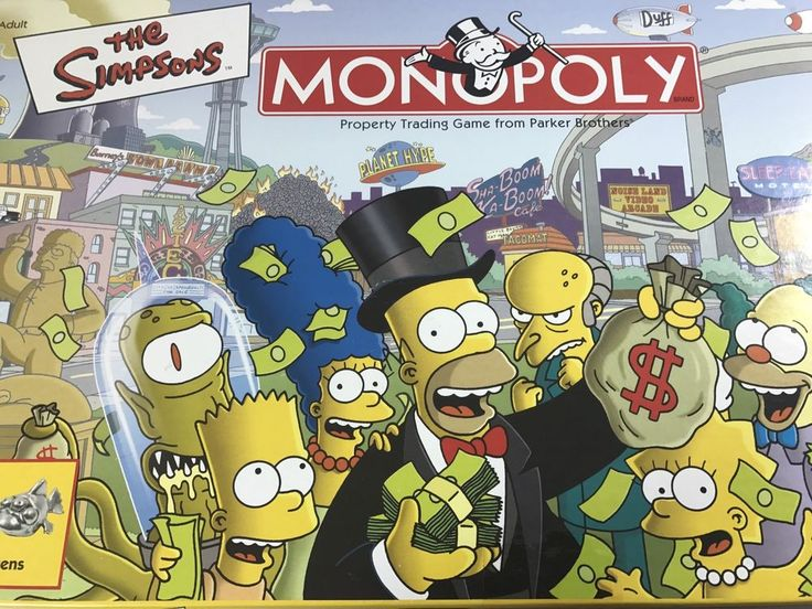 Parker Brothers The Simpsons Monopoly Board Game 2001 #ParkerBrothers