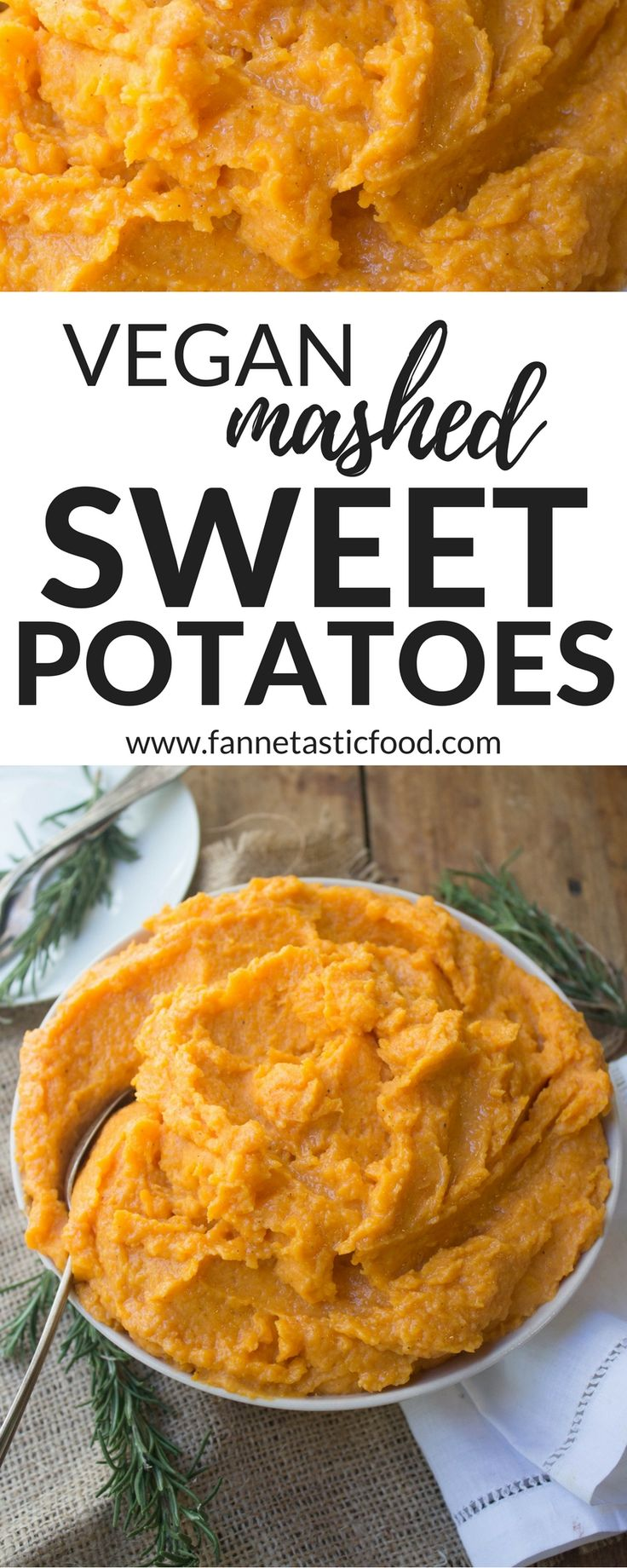 Vegan Mashed Sweet Potatoes - the most delicious, healthy side dish you can make in just minutes!