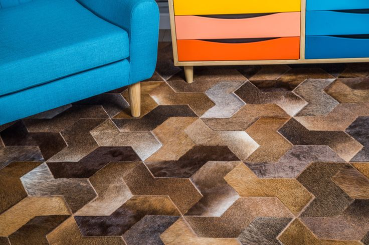 Tapete Jersey - Rug Jersey. patchwork leather rug. Amazing details. Tapetes en Cuero