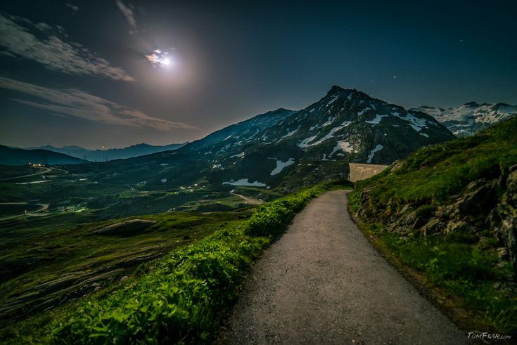 The moon lights the way