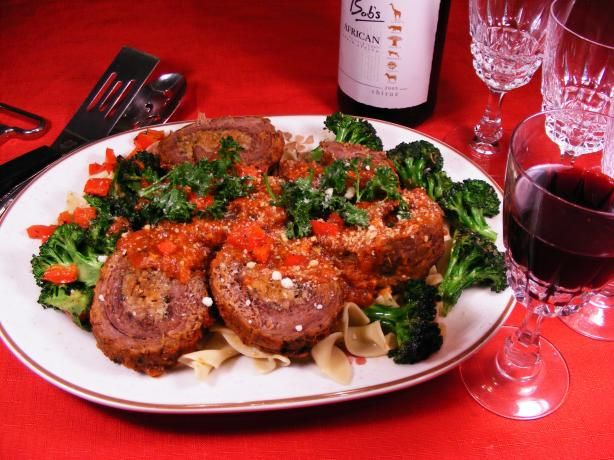 Braciole.  this is Giada's recipe but it is basically the standard real Italian way of making it.  The Longer it cooks the more tender it gets. Let it cook in the Sunday GRAVY! Now that's Italian.  Mangia
