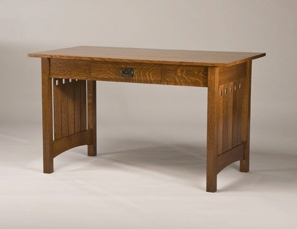 Quarter Sawn White Oak Mission Style Desk Furniture Plans