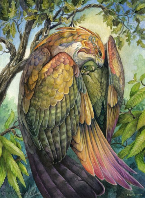 """Artist Brenda Lyons seems to have a fascination with birds. Luckily for us this seems to translate into beautiful artwork like """"Protect Me"""", featured above.    """"Protect Me"""" by Brenda Lyons, via DeviantArt: http://windfalcon.deviantart.com/art/Protect-Me-168487137?q=gallery%3Awindfalcon%2F120115&qo=101"""