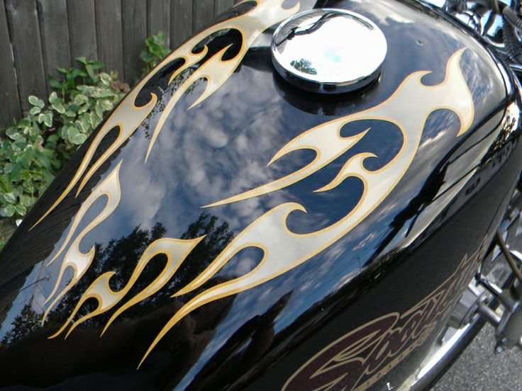 No Tribal Flames Pc Set Pick Color Combo Harley - Vinyl pinstripes for motorcycles