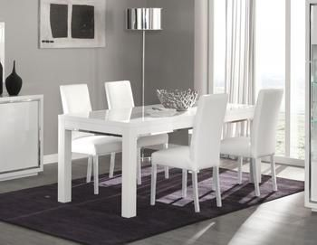 nice Salle à manger - Table de salle à manger design PALMIRA, coloris blanc laqué