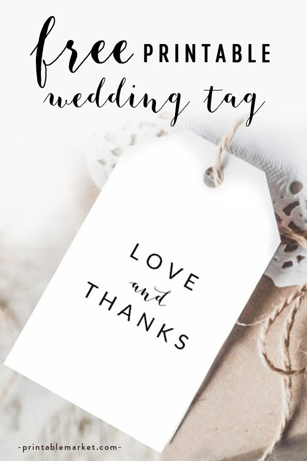 image about Free Printable Wedding Favor Tags named Absolutely free Black and White Printable Wedding day Get pleasure from and Due Choose
