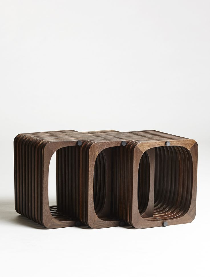 Custommade display / repetition in smoked oak - three in one. #Idea #manyoptions #design http://www.kjeldtoft.com/