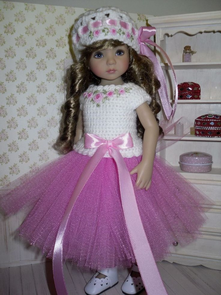 Set for Dianna Effner Little Darling 13 inches doll - blouse, skirt, hat.   eBay