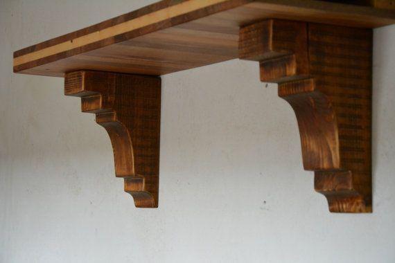 17 best ideas about wooden shelf brackets on pinterest invisible shelf brackets hidden shelf. Black Bedroom Furniture Sets. Home Design Ideas