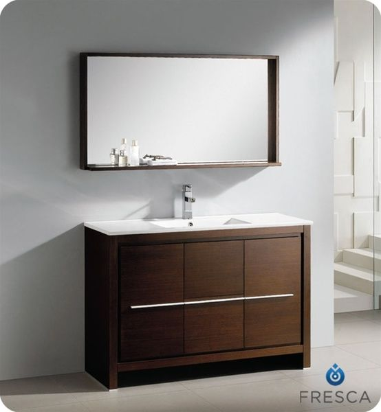 Fresca Allier 48 inch Wenge Brown Modern Bathroom Vanity with Mirror   Overstock  Shopping. 17  ideas about Brown Modern Bathrooms on Pinterest   Bathroom
