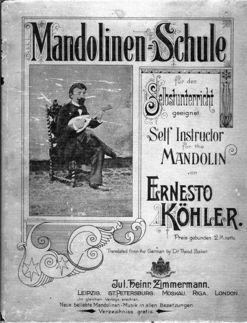 Ernesto Köhler - Mandolinen-Schule für den Selbstunterricht