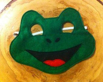 Frog Felt Mask...Felt mask...Frog mask...Toad child mask.... dress up... costume...