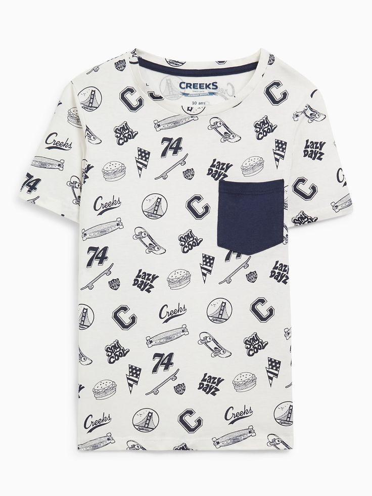 Découvrez les caractéristiques du produit T-shirt Coton Motif Skateboard, sur le site de La Halle, marque de vêtements et chaussures pour femmes et hommes.