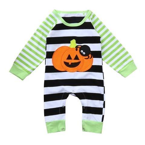 92b03cbdbd5 Baby Girl Boy Romper Clothes Newborn Winter Long Sleeves Halloween Striped  Spiderdresskily